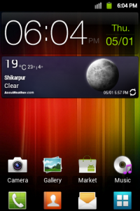 Galaxy SII Accuweather widget