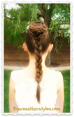 Princess Leia Spiral Braid Bun Updo Hair Tutorial