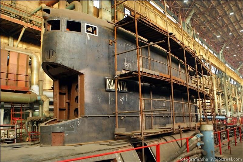 Submarinos Project 877 Kaluga Clase Kilo Proyecto 877 Paltus Kilo-class submarine en construcción Zvezdochka