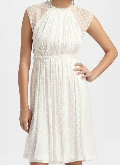Rachel Comey Saks Fifth Avenue white Ply dress