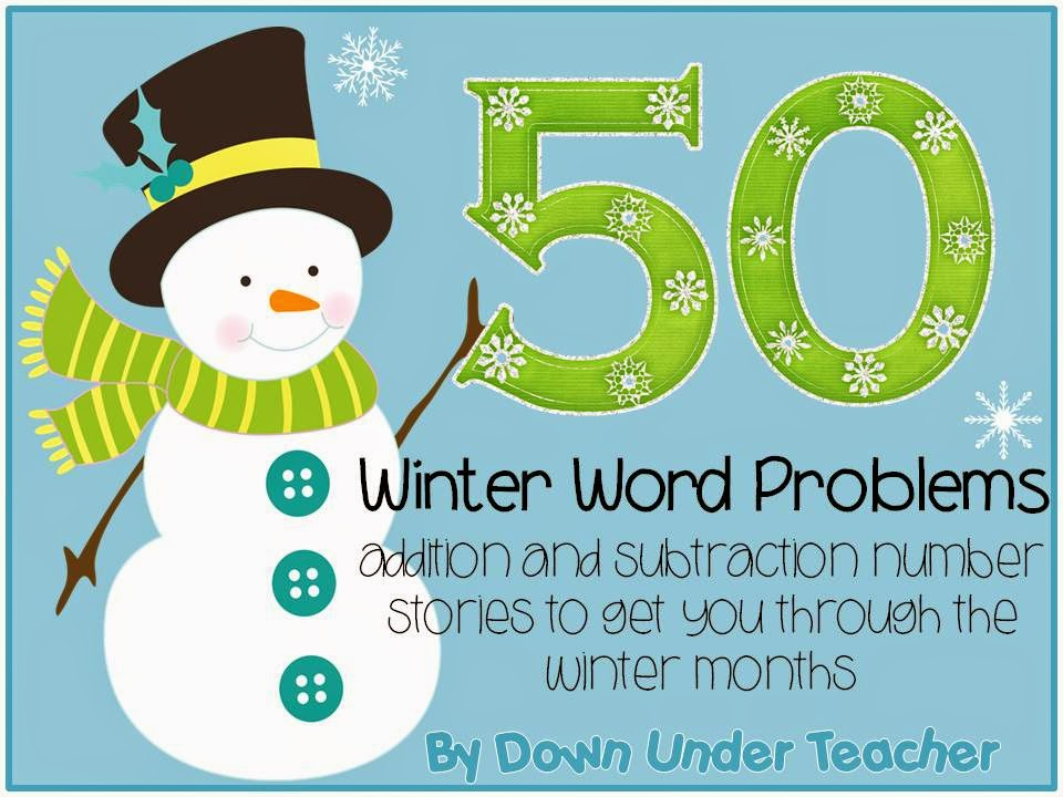 http://www.teacherspayteachers.com/Product/50-Winter-Word-Problems-or-Number-Stories-1058253