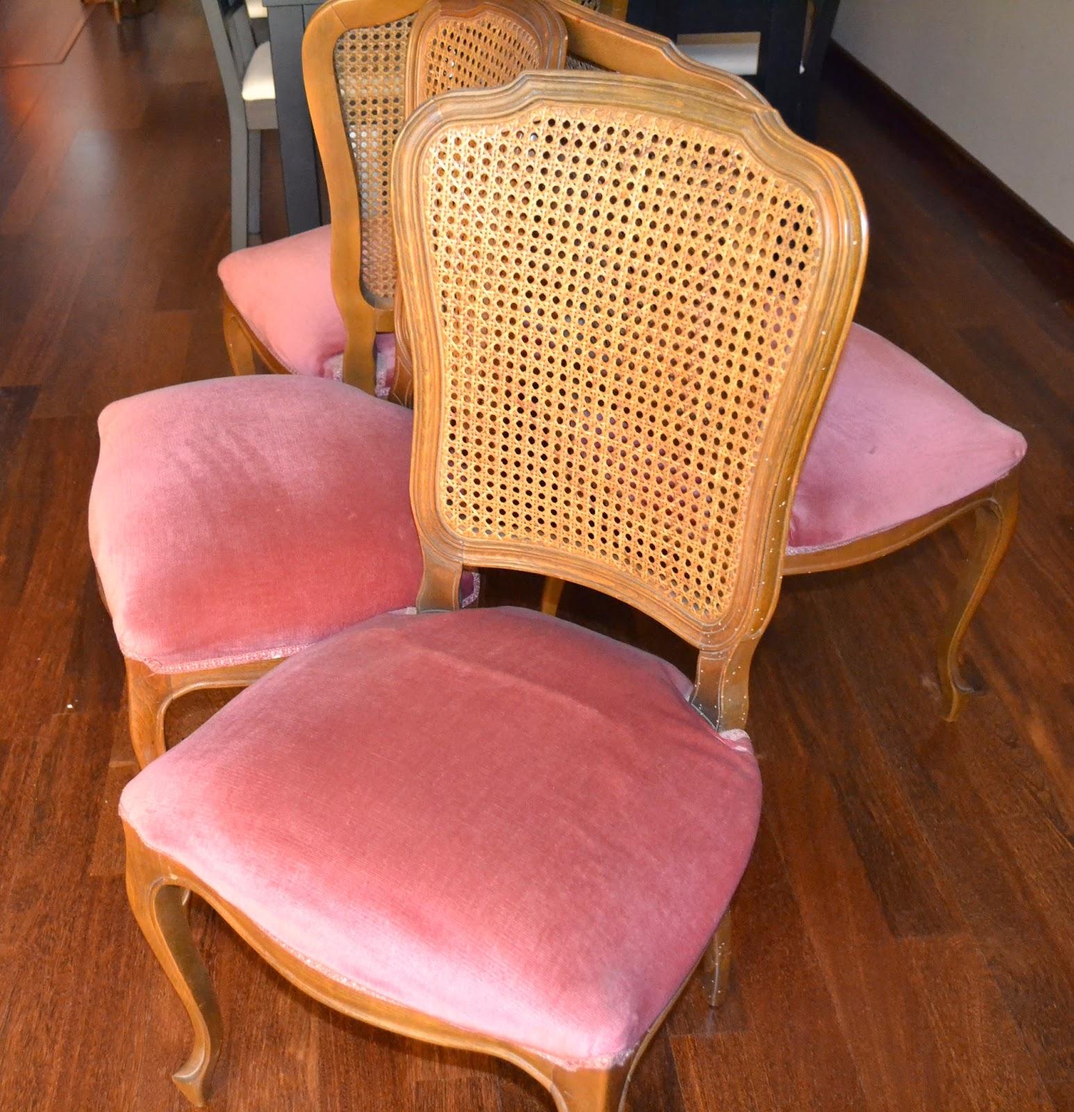 Sillas a os 60 restauradas antes y despu s decoracion - Sillas anos 60 ...