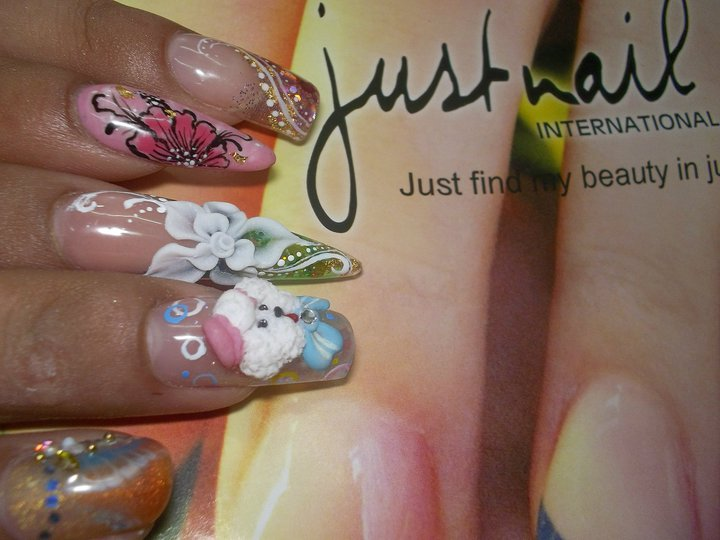 FAB UR NAILS: Stiletto Gel Nails