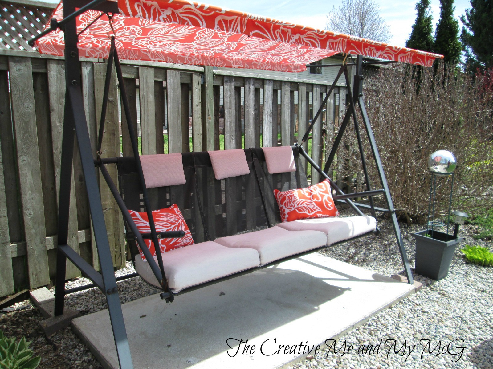 Upcycling Patio Chairs To A Garden Swing Seat