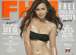 Beauty Gonzalez All-Grown-Up FHM Cover Babe!