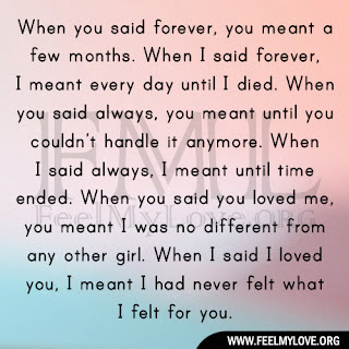 When you said forever