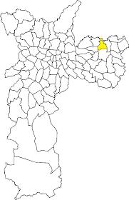 Mapa geografico da Vila Jacui/São Paulo