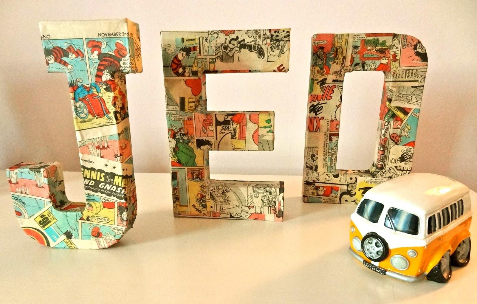 3d paper mache letters