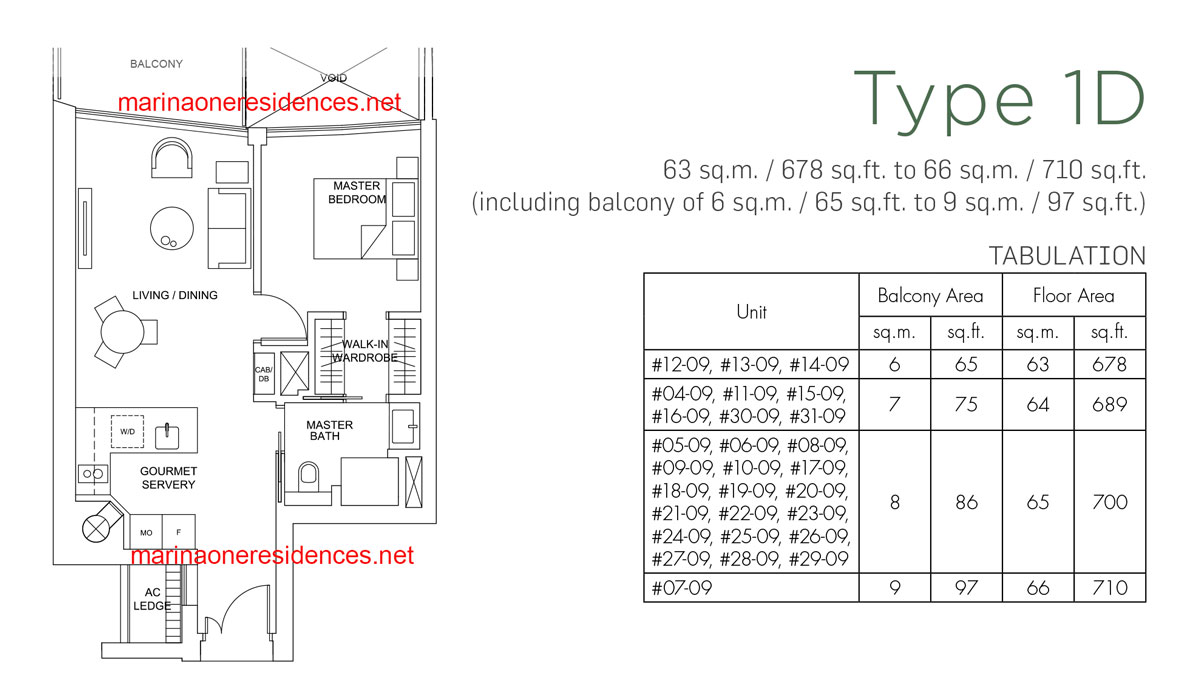 Type 1D Showflat unit