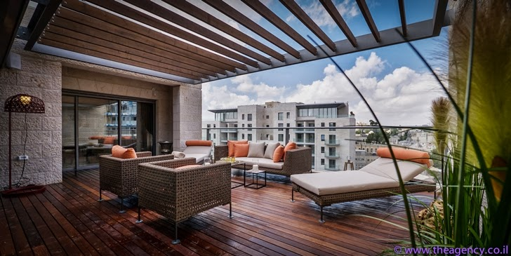 "Terrace of Elegant ""Jerusalem Dreams"" Penthouse Apartment"