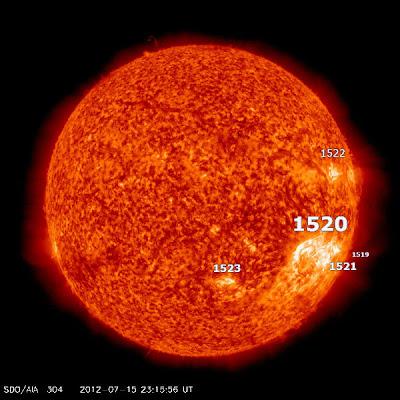 MANCHAS SOLARES 1520 ,17 DE JULIO 2012