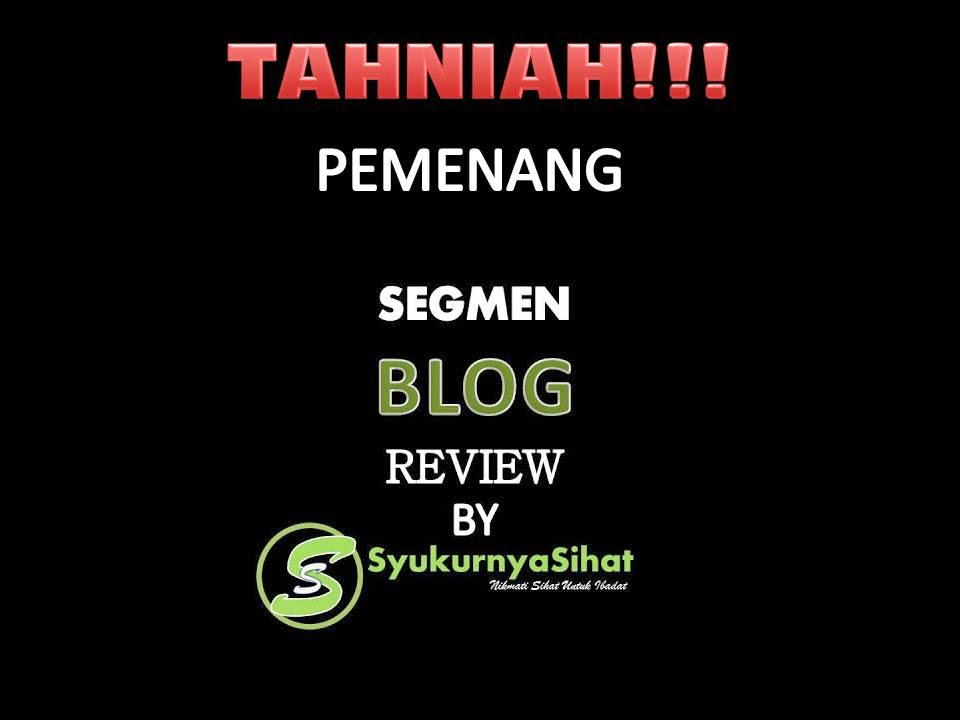 segmen blog review, pemenang