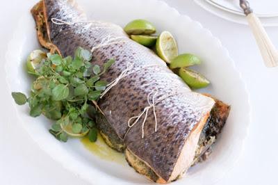 Salmon with pistachio pesto Recipe