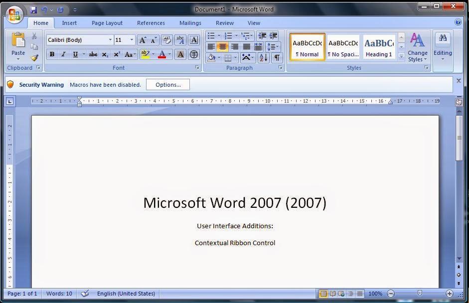 Kursus/Pelatihan Microsoft Word 2007dan 2010