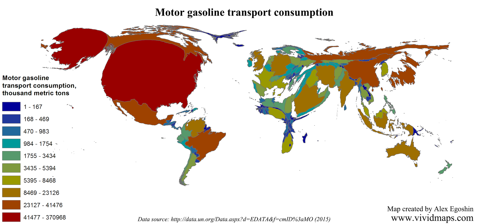 Motor gasoline transport consumption