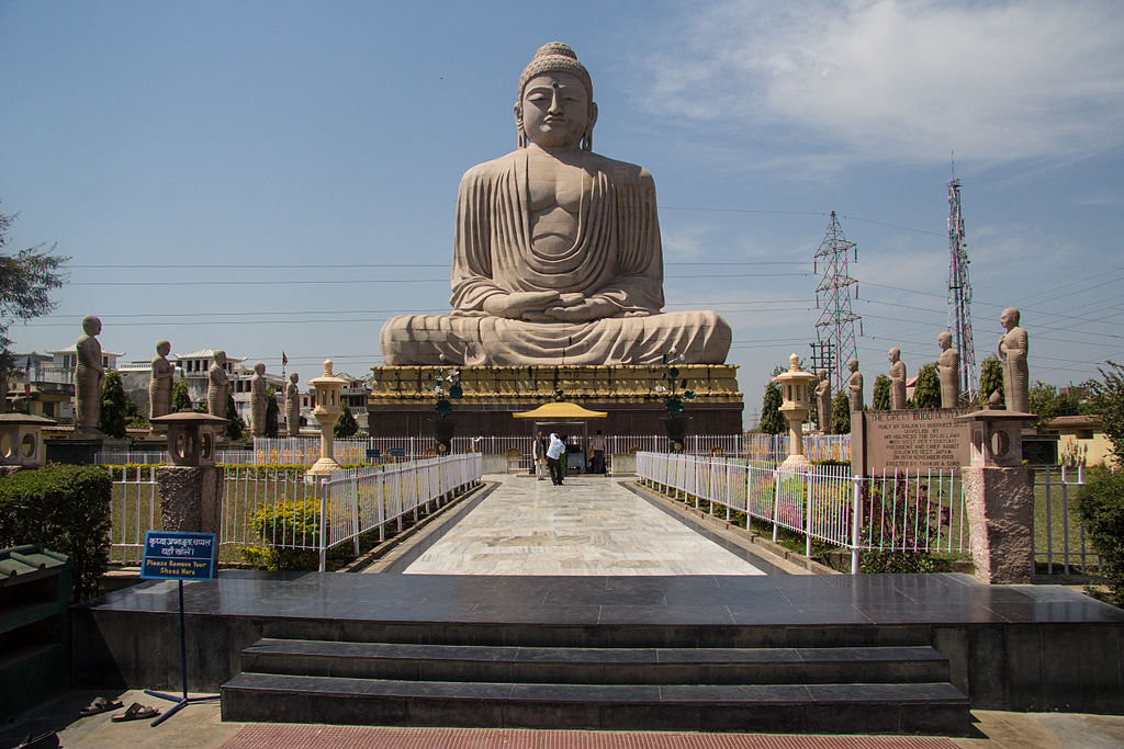 In all, Buddha spent seven weeks in different spots practising meditation. During the first week Buddha meditated under the Bodhi tree. During second week, he remained standing and staring at the Bodhi tree uninterrupted. This place is marked as Animeschlocha stupa – the unblinking shrine. On the third week, Buddha is believed to have paced back and forth between Animeschlocha stupa and Bodhi tree and the lotus flowers sprung under his feet as he walked away.