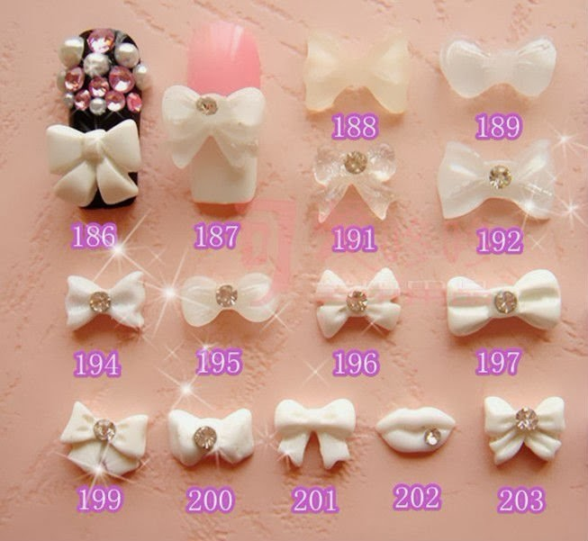 Fashionable nail art ideas nail designs with 3d bows for 3d nail decoration
