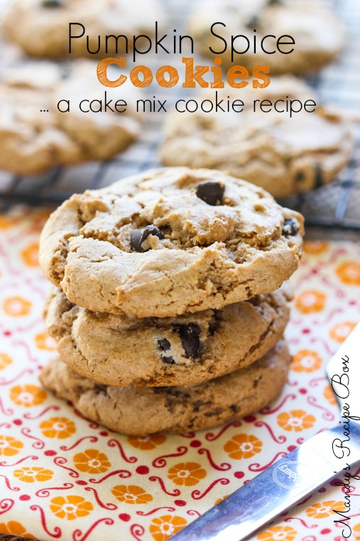 Pumpkin Spice Cookies ...A Cake Mix Cookie Recipe
