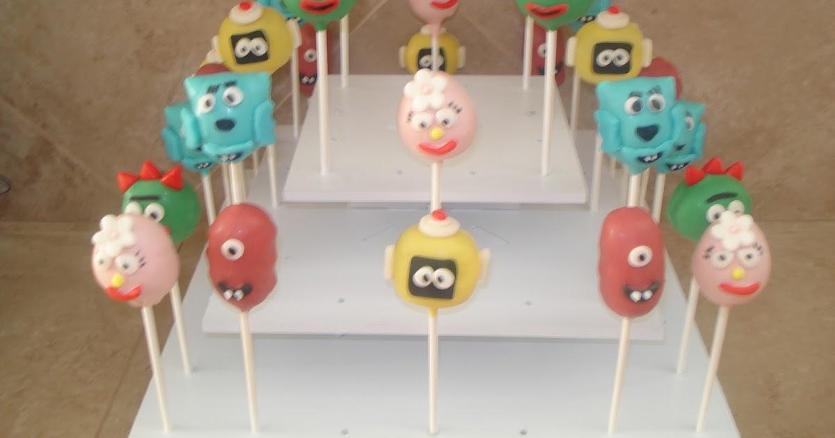 Jessicakes project yo gabba gabba cake pops for Decor yo pops