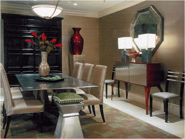 Modern dining room design ideas home decorating ideas for Designer dining room suites