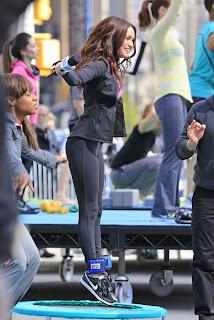 Megan Fox exercising