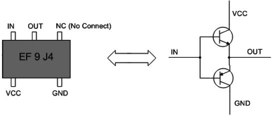 Hình 16 - Sơ đồ bên trong đèn BCE kép thuận ngược dùng trong mạch khuếch đại đệm trên vỉ cao áp