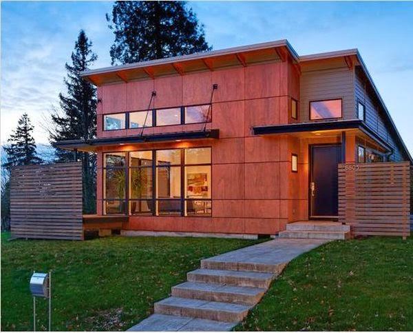 desain rumah kayu minimalis terbaik modern 2016