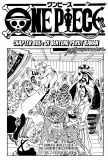Cover One Piece chapter 806