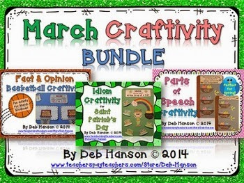 http://www.teacherspayteachers.com/Product/March-Craftivity-BUNDLE-St-Patricks-Day-March-Madness-Spring-1116018