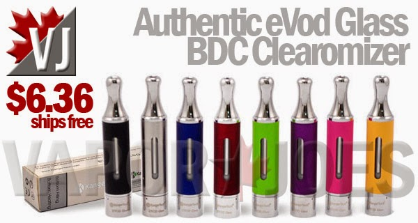 Authentic Kangertech eVod Glass Dual Coil Clearomizers