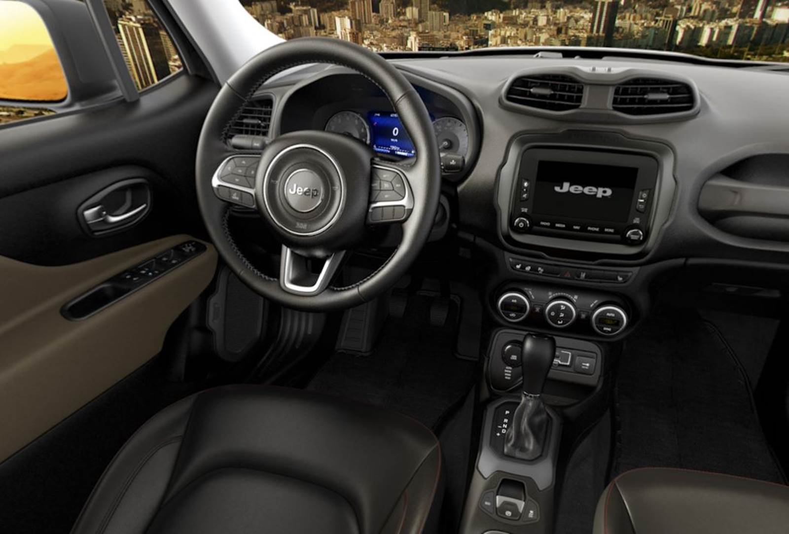 Jeep Renegade Longitude - versão intermediária - painel