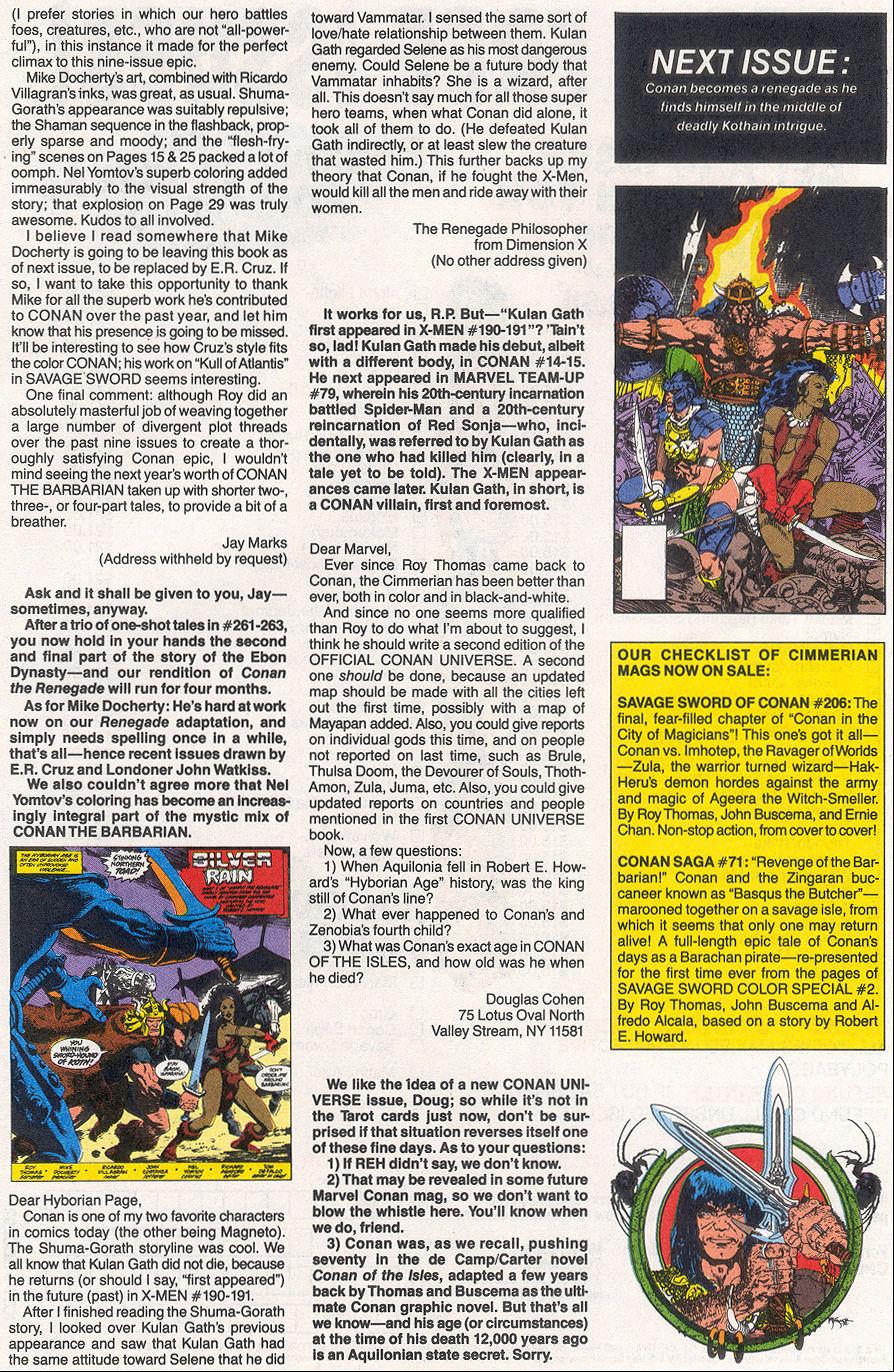 Conan the Barbarian (1970) Issue #265 #277 - English 25