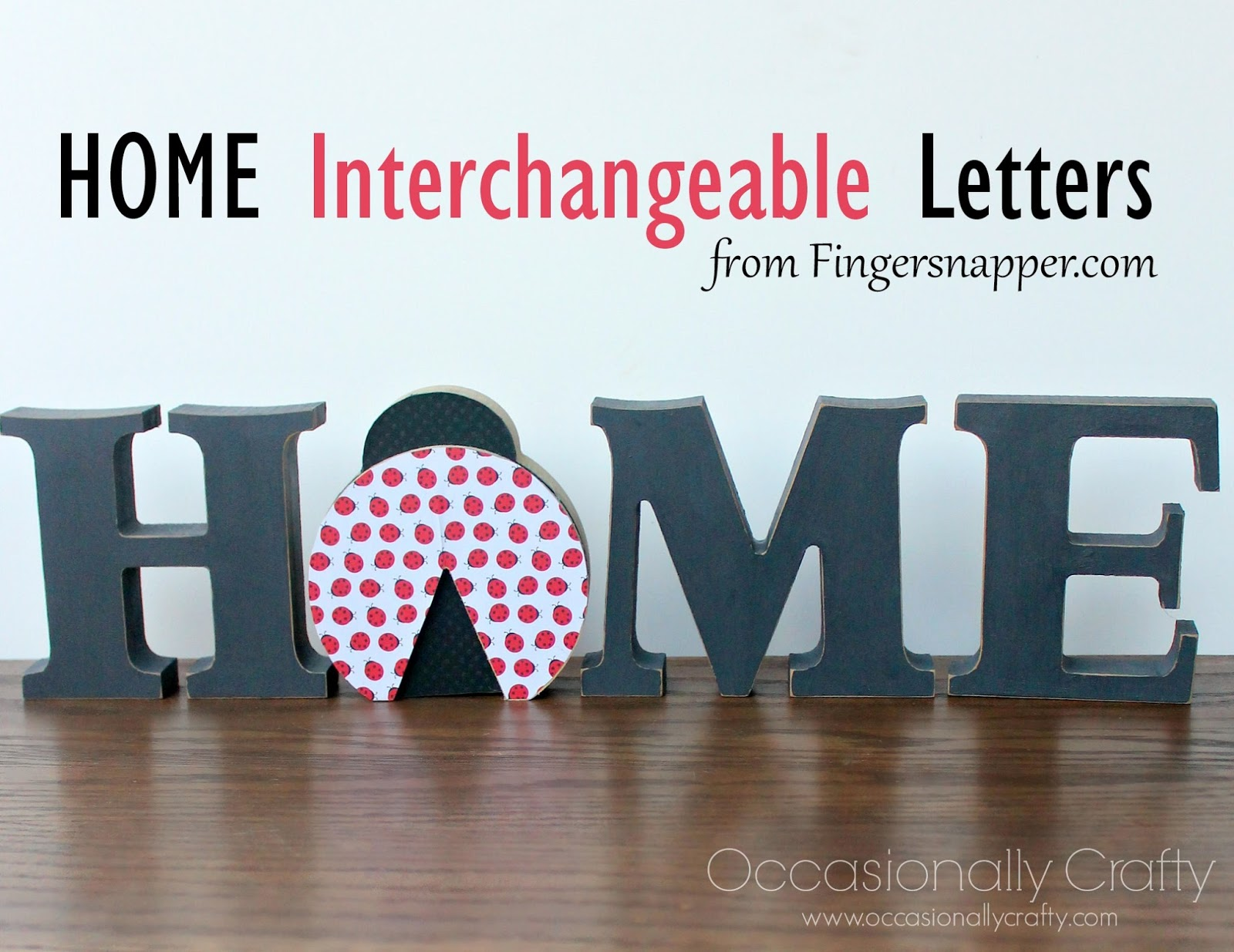 home interchangeable letters