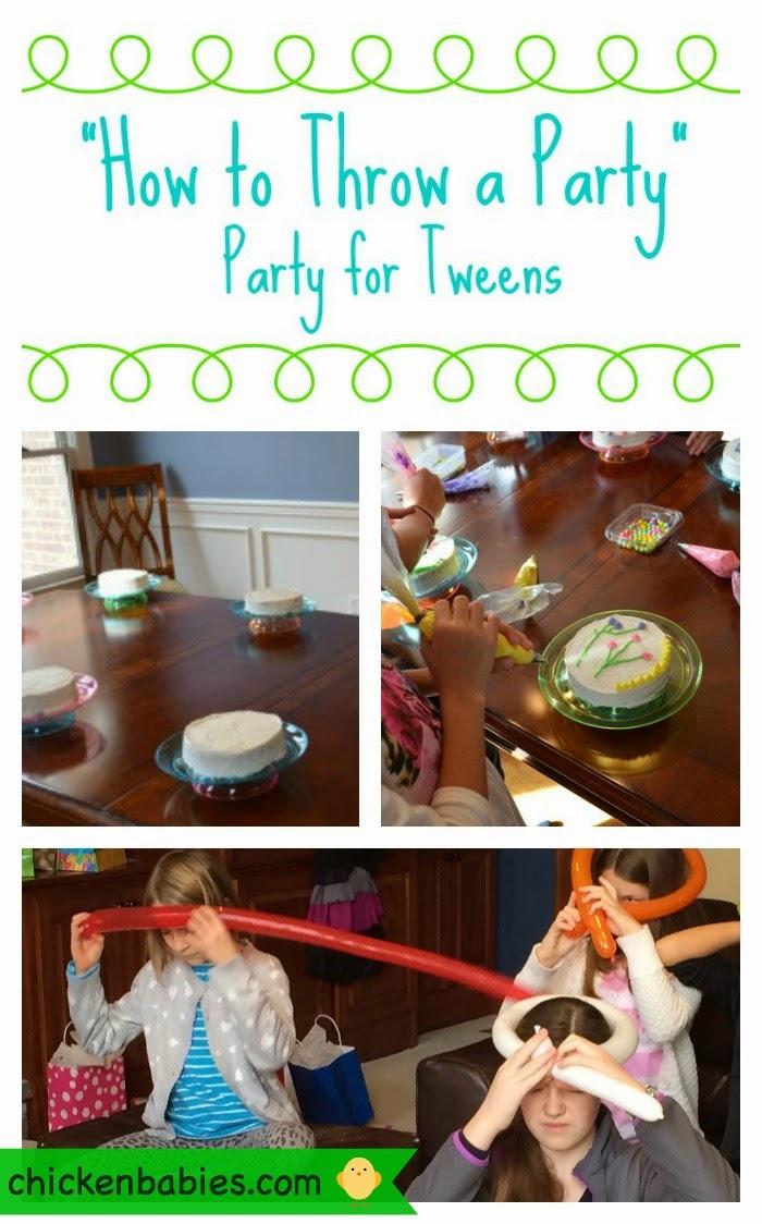 Fun ideas for a tween girl birthday party!
