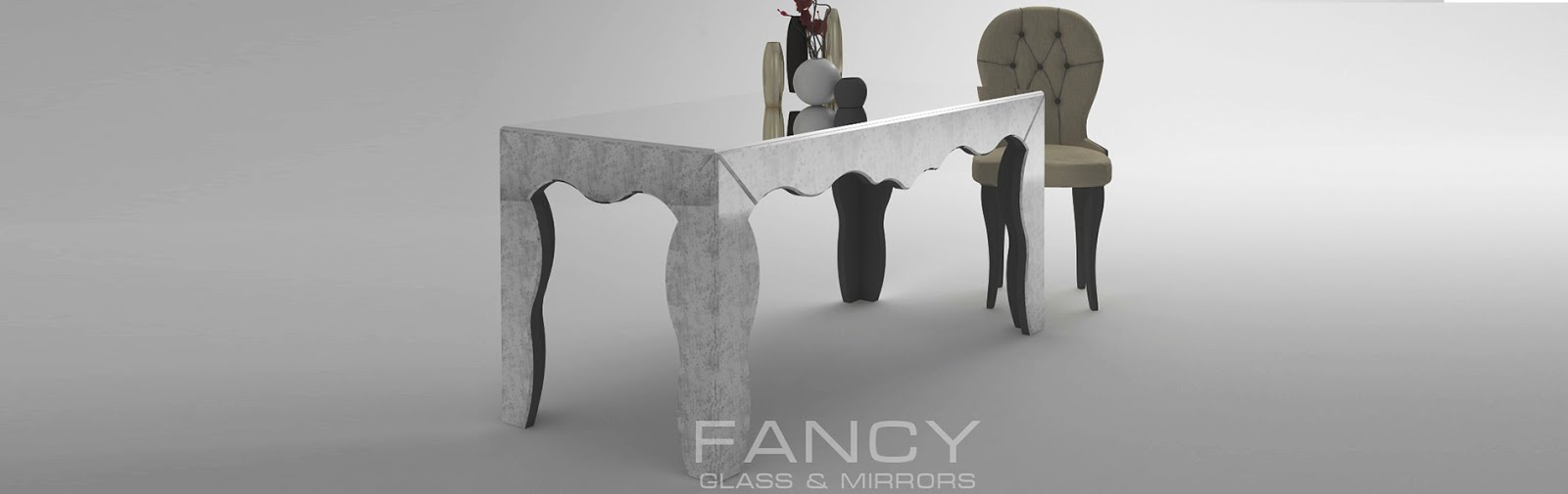 Luxury mirrored dining table rialto