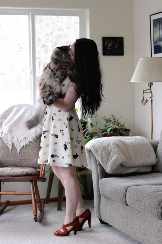 bunny print dress