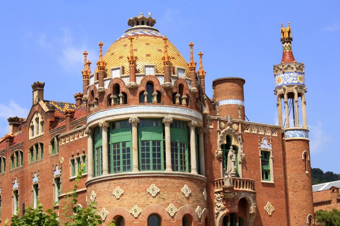 Pavilion of Hospital de Sant Pau in Barcelona