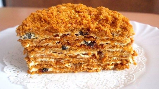 Торт медовый с черносливом и курагой рецепт