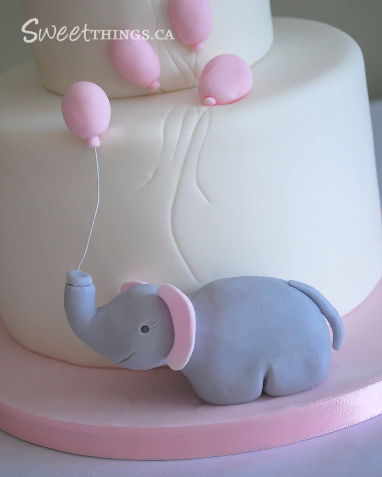 SweetThings Elephant Baby Shower Cake