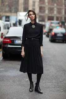 Look of the day: How To Wear All Black Without Risk