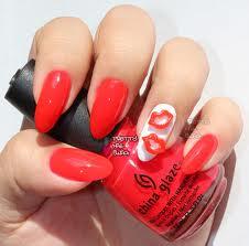nail art acentos lábio