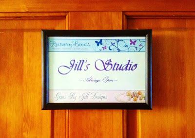 Jill Wright's Studio -- Door Sign