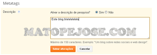 Adicionar Metatags no Blogger