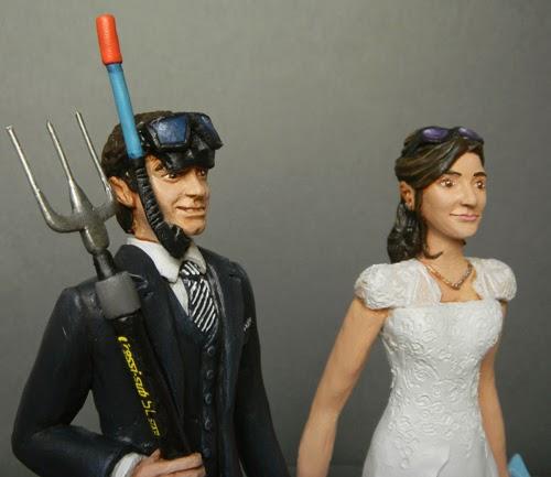 statuette sposi personalizzate realistiche volti reali sposini orme magiche