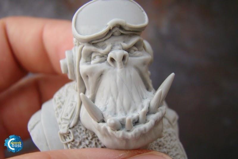 Orc Pilot Bust (Kromlech)