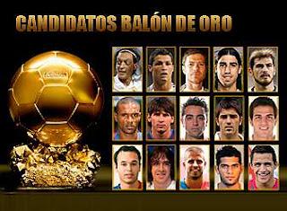 Jugadores Nominados al Balón de Oro 2011