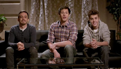 Justin Bieber appears on Saturday Night Live Digital Short May 2012
