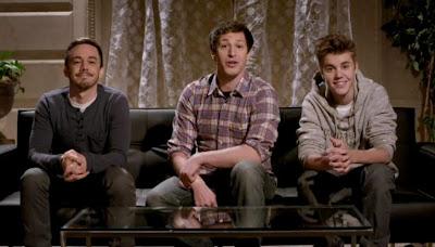 Justin Bieber appears on Saturday Night Live Digital Short May 2012