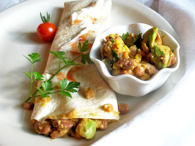 Pinto Bean and Avocado Burritos