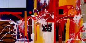 "Abstract Painting ""Lust"" by Dora Woodrum"